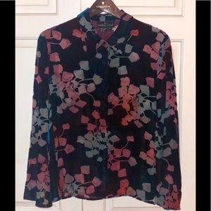 CAROLE LITTLE SILK PRINTED BLOUSE